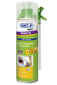 Mousse expansive MX810 0% Isocyanate 500ml NEC+