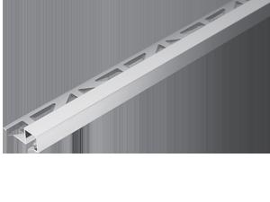 mat/ériau de 1 mm rail de 250cm 50 M/ÉTRE Hauteur: 10mm PR/ÉMIUM profil/é pour carrelage carr/é aluminium argent p/âle